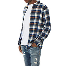 Buy Selected Homme One Colour Check Shirt Online at johnlewis.com