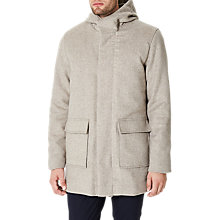 Buy Selected Homme Hood Wool Coat, Snow White Online at johnlewis.com