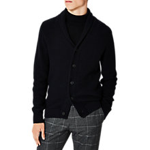 Buy Selected Homme Rolf Shawl Neck Cardigan, Dark Sapphire/Caviar Online at johnlewis.com