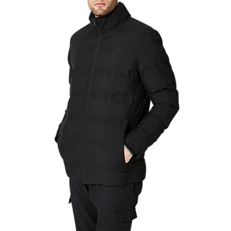 Buy Selected Homme Funnel Quilt Jacket, Black | John Lewis : selected quilted jacket - Adamdwight.com