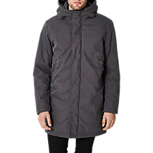 Buy Selected Homme Jason Hooded Jacket, Raven Online at johnlewis.com