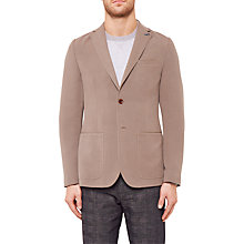 Buy Ted Baker Melvis Textured Blazer Jacket, Taupe Online at johnlewis.com