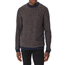 Buy Selected Homme Twill Sapphire Jumper, Dark Sapphire Online at johnlewis.com
