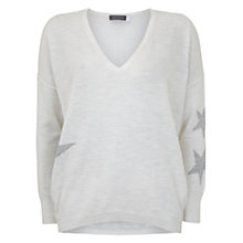 Buy Mint Velvet Abstract Star Intarsia Jumper, Ivory Online at johnlewis.com