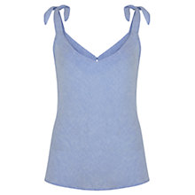 Buy Mint Velvet Chambray Linen Tie Camisole, Light Blue Online at johnlewis.com