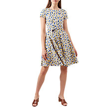 Buy Hobbs Sorrento Lemons Print Flared Dress, Multi Online at johnlewis.com