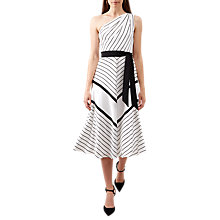 Buy Hobbs Paulina Dress, Ivory/Black Online at johnlewis.com
