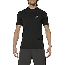 Buy Asics Seamless Short Sleeve Men's Running T-Shirt, Black Online at johnlewis.com