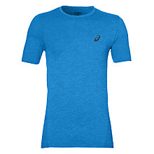 Buy Asics Seamless Short Sleeve Training T-Shirt, Blue Online at johnlewis.com