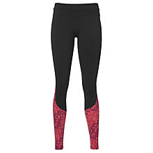 Buy Asics Race Running Tights, Black/Red Online at johnlewis.com