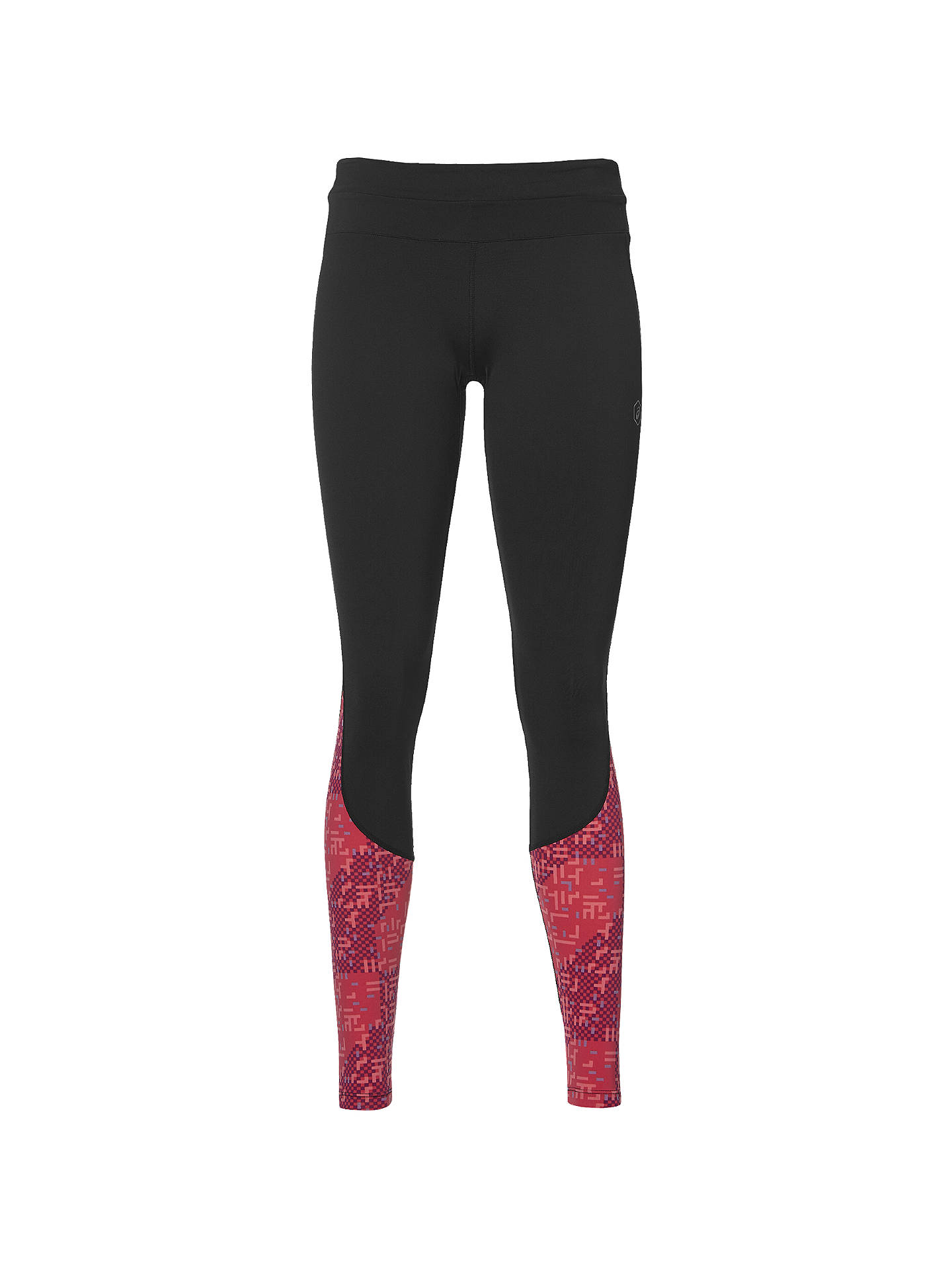 75287191 Asics Race Running Tights, Black/Red at John Lewis & Partners