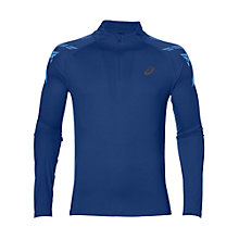 Buy Asics Stripe Half-Zip Top, Blue Online at johnlewis.com
