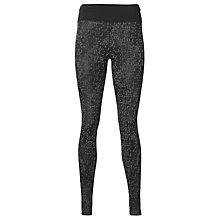 Buy Asics Geometric Print Running Tights, Black Online at johnlewis.com