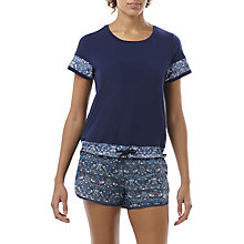 Buy Asics Liberty Fabrics Collection Short Sleeve Training Top Online at johnlewis.com