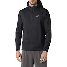 Buy Asics Accelerate Waterproof Men's Jacket, Black Online at johnlewis.com