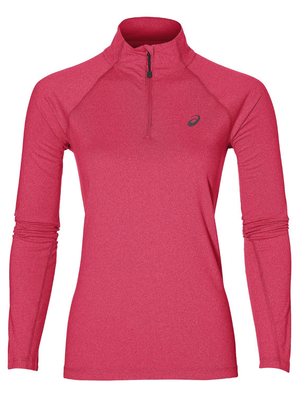 Running Long Sleeve Half Zip Jersey Top, Pink RUNNING