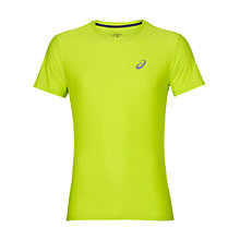Buy Asics Short Sleeve Men's Running Top, Green Online at johnlewis.com