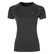 Buy Asics Stripe Short Sleeve Women's Running Top, Grey Online at johnlewis.com
