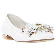 Buy Dune Hybiscus Flower Ballet Pumps, White Online at johnlewis.com