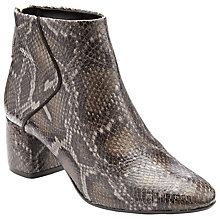 Buy John Lewis Ona Block Heeled Ankle Boots, Snake Leather Online at johnlewis.com