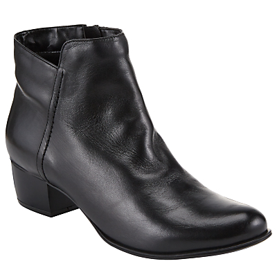 Product photo of John lewis albany ankle boots black leather
