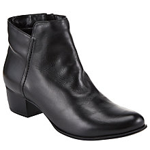 Buy John Lewis Albany Ankle Boots, Black Leather Online at johnlewis.com