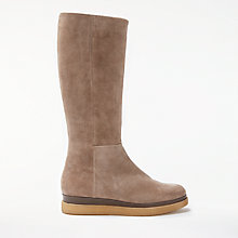 Buy Modern Rarity Tamsin Flatform Knee High Boots, Natural Suede Online at johnlewis.com