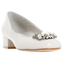 Buy Dune Buntie Jewelled Block Heeled Court Shoes Online at johnlewis.com