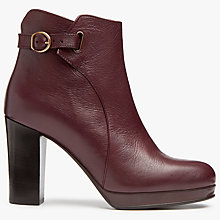 Buy Modern Rarity Olena Block Heeled Ankle Boots, Burgundy Online at johnlewis.com