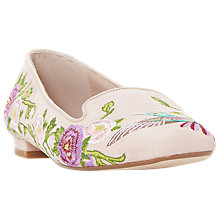 Buy Dune Growe Embroidered Loafers, Blush Online at johnlewis.com