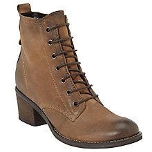 Buy John Lewis Harper Lace Up Ankle Boots, Brown Suede Online at johnlewis.com