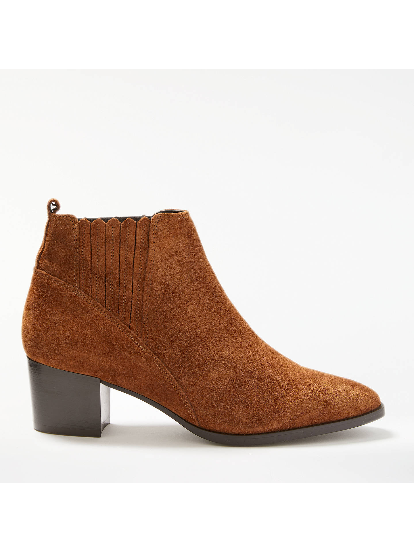 cb8fa1530 Buy John Lewis Peyton Block Heeled Ankle Chelsea Boots, Cognac Suede, 3  Online at ...