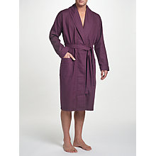 Buy John Lewis Pure Cotton Honeycomb Waffle Robe, Purple Online at johnlewis.com