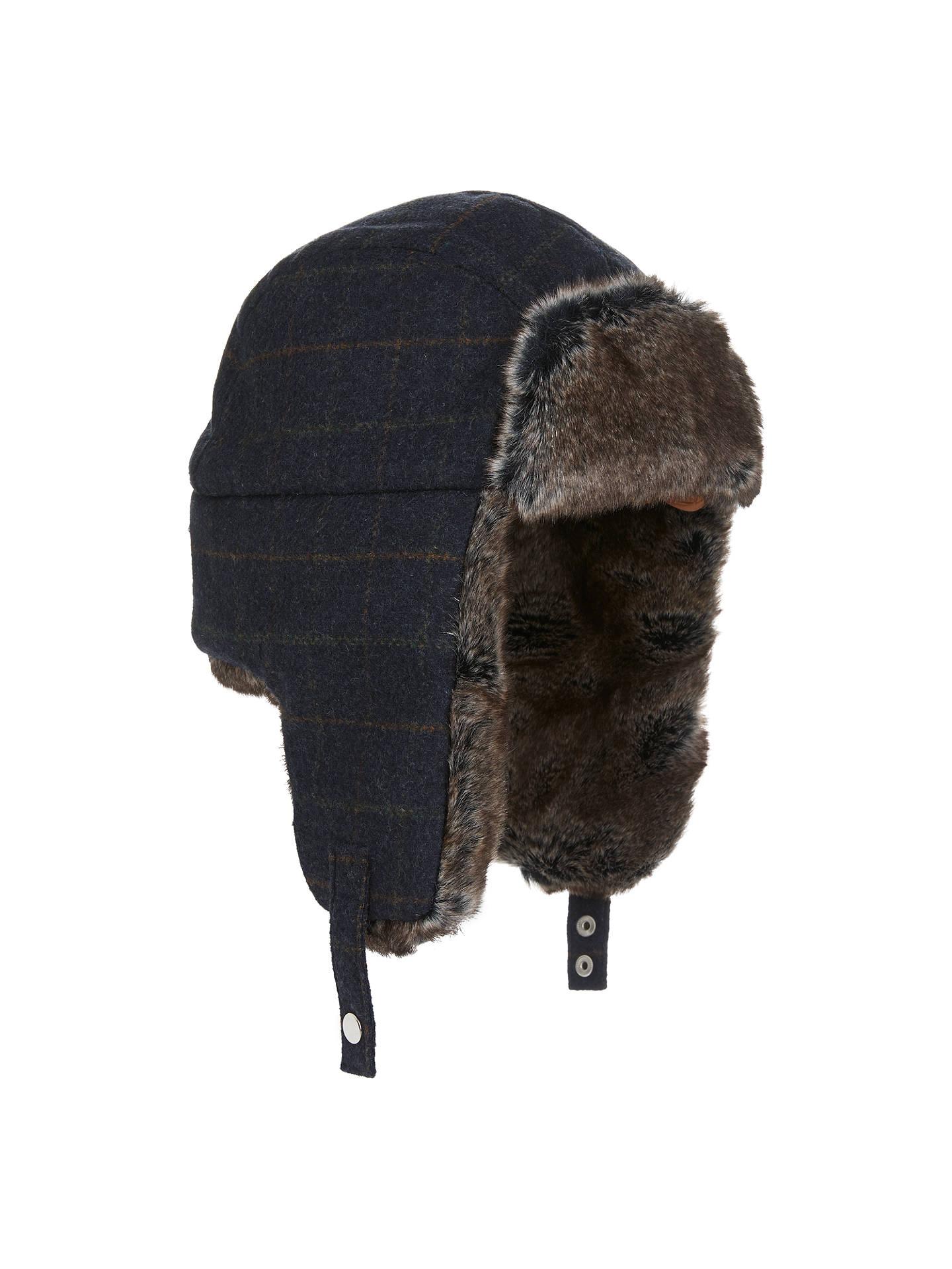 BuyJohn Lewis Check Trapper Hat 46f5a64e879