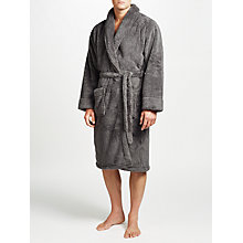 Buy John Lewis High Pile Robe, Grey Online at johnlewis.com