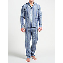 Buy Paul Smith Signature Stripe Cotton Pyjamas, Blue Online at johnlewis.com