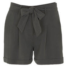Buy Mint Velvet Tie Shorts, Khaki Online at johnlewis.com