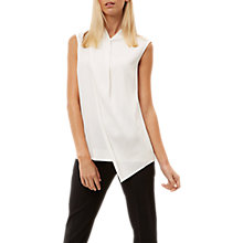 Buy Jaeger Draped Layer Top, Ivory Online at johnlewis.com