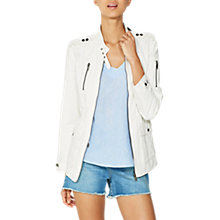Buy Mint Velvet Pocket Safari Jacket, Ivory Online at johnlewis.com