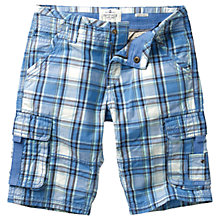 Buy Fat Face Boys' Sandbank Check Cargo Shorts, Blue Online at johnlewis.com