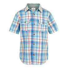 Buy Fat Face Boys' Checked Shirt, Lagoon Online at johnlewis.com