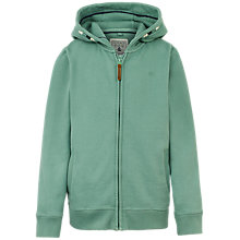 Buy Fat Face Tail To The Rail Boys' Zip Through Hoodie, Green Online at johnlewis.com