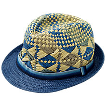 Buy Fat Face Children's Trilby Hat, Blue Online at johnlewis.com