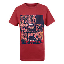 Buy Fat Face Children's Lion Puzzle T-Shirt, Red Online at johnlewis.com