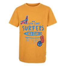 Buy Fat Face Boys' Surf Badge T-Shirt, Yellow Online at johnlewis.com