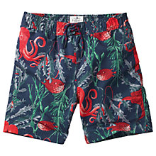 Buy Fat Face Boys' Octopus Board Shorts, Blue Online at johnlewis.com