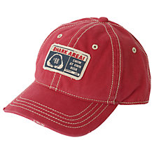Buy Fat Face Children's Shark Attack Cap, Red Online at johnlewis.com