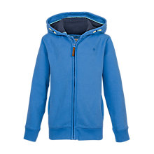 Buy Fat Face Life Is Out There Boys' Zip Through Hoodie, Blue Online at johnlewis.com