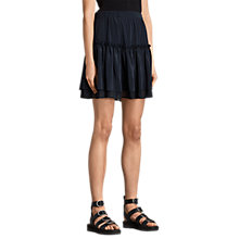 Buy AllSaints Alia Silk Skirt, Mystic Blue Online at johnlewis.com