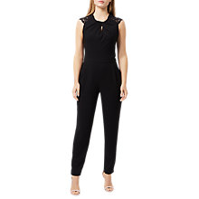 Buy Damsel in a dress Lynell Jumpsuit, Black Online at johnlewis.com